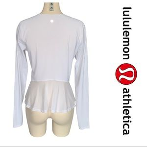 Lululemon Look Ahead Run Long Sleeve White